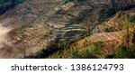 samaba rice terrace fields in... | Shutterstock . vector #1386124793