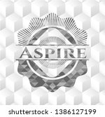 aspire grey emblem with... | Shutterstock .eps vector #1386127199