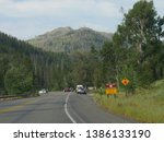 wyoming  usa  july 2018 ... | Shutterstock . vector #1386133190