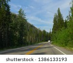 wyoming  usa  july 2018  scenic ... | Shutterstock . vector #1386133193