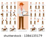 set of business people working... | Shutterstock .eps vector #1386135179