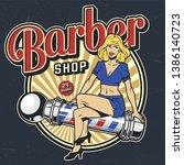 Vintage Barbershop Colorful...