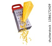 Piece Of Yellow Cheese Grated...