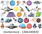 set of space element... | Shutterstock .eps vector #1386180830