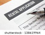 close up of rental application... | Shutterstock . vector #138619964