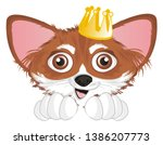 snout of chihuahua with crown   Shutterstock . vector #1386207773