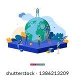 trendy flat illustration.... | Shutterstock .eps vector #1386213209