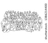 group of people together vector ...   Shutterstock .eps vector #1386214400