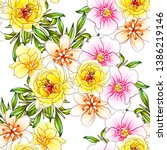 flower print. elegance seamless ... | Shutterstock . vector #1386219146