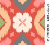 ikat geometric folklore...   Shutterstock .eps vector #1386226106