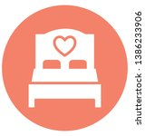 bed isolated vector icon which ... | Shutterstock .eps vector #1386233906