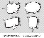 comic speech bubbles on... | Shutterstock .eps vector #1386238040