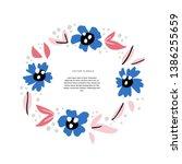 floral wedding invitation hand... | Shutterstock .eps vector #1386255659