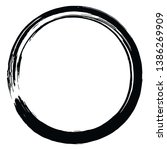 japanese enso zen brush circle... | Shutterstock .eps vector #1386269909