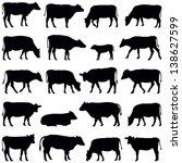 cow collection   vector... | Shutterstock .eps vector #138627599