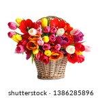 Wicker Basket With Beautiful...