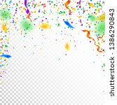 streamers and confetti.... | Shutterstock .eps vector #1386290843