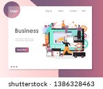 business vector website... | Shutterstock .eps vector #1386328463