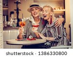 discussing latest news.... | Shutterstock . vector #1386330800