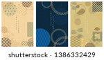 japanese template vector.... | Shutterstock .eps vector #1386332429
