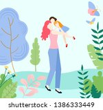 hello summer. mother with...   Shutterstock .eps vector #1386333449