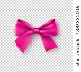 fashionable rose bow with... | Shutterstock .eps vector #1386335006