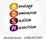 bdsm   bondage  dominance ... | Shutterstock .eps vector #1386337049