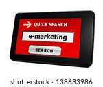 search for e marketing | Shutterstock . vector #138633986