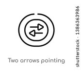 outline two arrows pointing... | Shutterstock .eps vector #1386363986