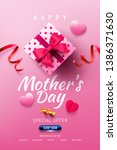happy mother's day sale poster... | Shutterstock .eps vector #1386371630