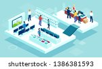 vector of people shopping in a... | Shutterstock .eps vector #1386381593