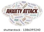 anxiety attack word cloud.... | Shutterstock .eps vector #1386395240