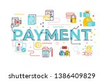 payment word lettering... | Shutterstock .eps vector #1386409829