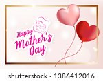happy mother's day lettering... | Shutterstock .eps vector #1386412016