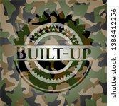 built up camouflage emblem.... | Shutterstock .eps vector #1386412256
