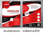 business brochure. flyer design.... | Shutterstock .eps vector #1386416390