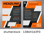 business brochure. flyer design.... | Shutterstock .eps vector #1386416393