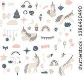 vector baby nursery...   Shutterstock .eps vector #1386430490