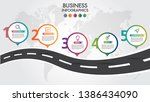 business infographic road... | Shutterstock .eps vector #1386434090