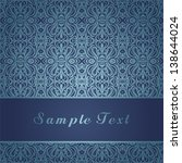 invitation card with frame on... | Shutterstock .eps vector #138644024