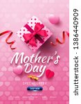 happy mother's day sale poster... | Shutterstock .eps vector #1386440909