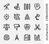ollection of linear web icons  ... | Shutterstock .eps vector #1386442040