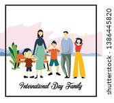 happy family day cartoon 2 d...   Shutterstock .eps vector #1386445820