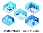 medical clinic infographics... | Shutterstock . vector #1386447809