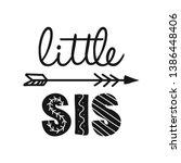 little sis  lil sister  ... | Shutterstock .eps vector #1386448406