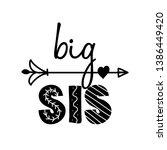 big sis  big sister  ... | Shutterstock .eps vector #1386449420