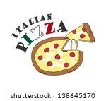 pizza italian   Shutterstock .eps vector #138645170