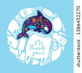 say no thank you to the plastic ... | Shutterstock .eps vector #1386452270