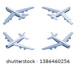 isometric passenger plane in... | Shutterstock .eps vector #1386460256