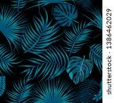 vector tropical seamless...   Shutterstock .eps vector #1386462029